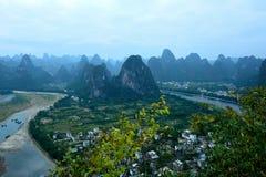 Cenário de Lijiang River Foto de Stock