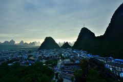 Cenário de Lijiang River Fotografia de Stock Royalty Free