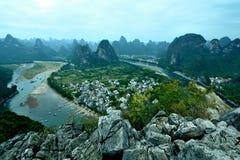 Cenário de Lijiang River Foto de Stock Royalty Free
