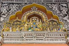 Cenário de Lord Rama no palácio de Thanjavur Fotos de Stock