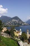 Cenário de Lugano Imagens de Stock Royalty Free