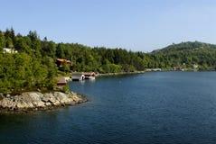 Cenário de Lysefjord Fotografia de Stock Royalty Free