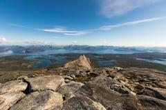 Cenário de Noruega do norte fotos de stock royalty free