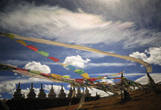 Cenário de Tibet Fotografia de Stock Royalty Free