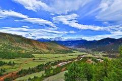 Cenário de Tibet imagem de stock royalty free