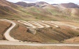 Cenário de Tibet imagem de stock