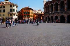 Cenário de Verona Sutiã da praça e arena Verona Foto de Stock