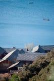 Cenário de Yunnan, China, lago Lugu Imagens de Stock Royalty Free