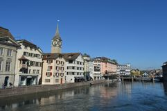 Cenário de Zurique Fotos de Stock Royalty Free