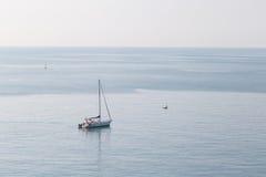 Cenário do beira-mar de Riomaggiore Imagem de Stock Royalty Free
