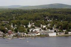 Cenário do beira-rio em Bucksport Maine Fotos de Stock Royalty Free