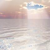 Cenário do céu do mar Foto de Stock