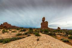 Cenário do deserto do parque nacional dos arcos no outono Foto de Stock Royalty Free