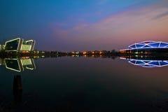 Cenário do distrito de Huainan Shannan foto de stock