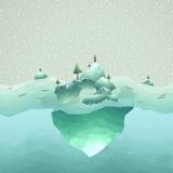 Cenário do iceberg Fotografia de Stock Royalty Free