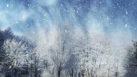 Cenário do inverno e neve de queda ilustração do vetor