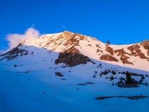 Cenário do inverno em Grécia do sul Fotos de Stock