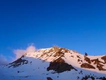 Cenário do inverno em Grécia do sul Fotos de Stock Royalty Free