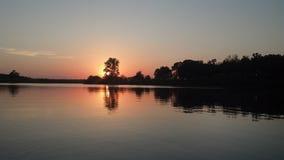 Cenário do lago Fotografia de Stock