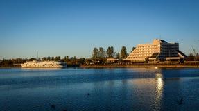 Cenário do lago de Vyborg, Rússia Imagem de Stock Royalty Free