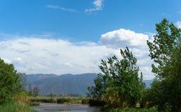 Cenário do lago do qionghai de Xichang em China Foto de Stock