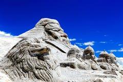 Cenário do lago Qinghai Chaka Salt Fotografia de Stock