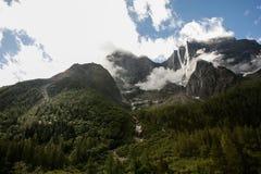 Cenário do Mt Siguniang em Sichuan, China Foto de Stock Royalty Free