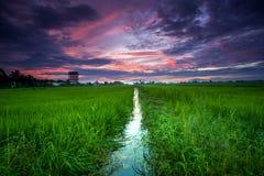 Cenário do nascer do sol em Ipoh, Perak, Malásia imagem de stock