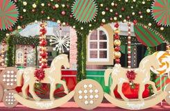 Cenário do Natal fotos de stock