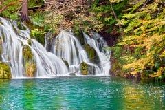 Cenário do outono da cachoeira fotografia de stock