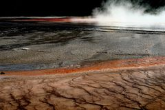 Cenário do parque nacional de Yellowstone Fotografia de Stock