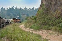 Cenário do passeio do trem em Sri Lanka Fotografia de Stock