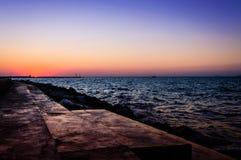 Cenário do por do sol do oceano do verão Imagem de Stock