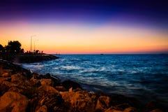 Cenário do por do sol do oceano do verão Imagem de Stock Royalty Free