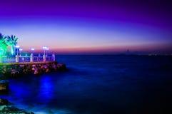 Cenário do por do sol do oceano do verão Fotografia de Stock