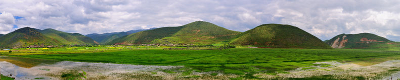 Cenário do rancho do Shangri-La Imagens de Stock Royalty Free