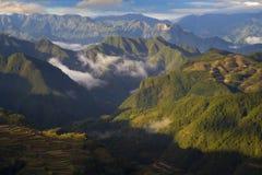 Cenário do terraço de Lishui Foto de Stock Royalty Free