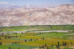 Cenário do vale, Camaná, Peru Foto de Stock Royalty Free