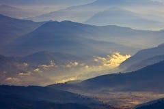 Cenário dos Himalayas imagem de stock