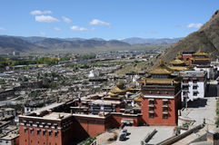Cenário em Tibet imagem de stock royalty free