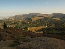 Cenário em torno de Hogsback tomado do monte anônimo na mola adiantada, África do Sul Imagens de Stock Royalty Free