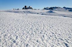Cenário invernal da montanha Imagens de Stock Royalty Free
