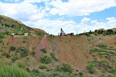 Cenário Jerome da paisagem, Maricopa County, o Arizona, Estados Unidos fotografia de stock