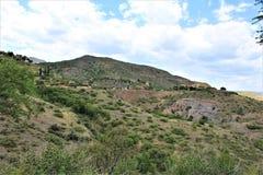 Cenário Jerome da paisagem, Maricopa County, o Arizona, Estados Unidos fotografia de stock royalty free