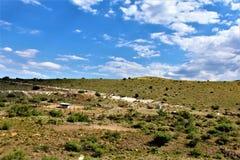 Cenário Jerome e Phoenix da paisagem, Maricopa County, o Arizona, Estados Unidos fotos de stock