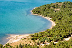 Cenário litoral bonito Imagens de Stock