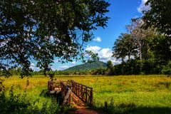 Cenário maravilhoso de Camboja imagens de stock