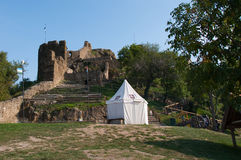 Cenário no castelo de Szigliget Fotos de Stock