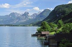 Cenário no lago wolfgang Fotografia de Stock