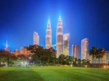 Cenário no parque, Malásia da noite de Kuala Lumpur Fotos de Stock